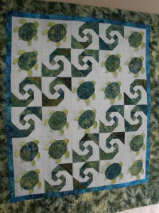 Baby Honu quilt finished